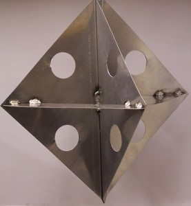 radar reflector - 12 inch with holes